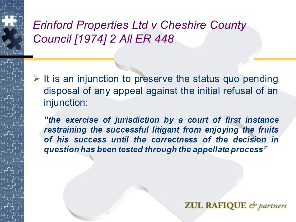 Erinford Properties Ltd v Cheshire County Council [1974] 2 All ER 448